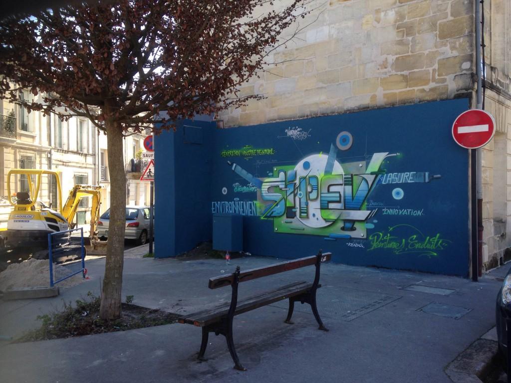 Le graff réalisé par Kendo pour le site Generation-industrie-peinture.com, à Bordeaux