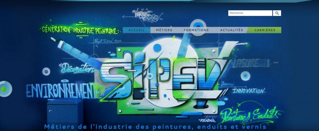 Page d'accueil du site generation-industrie-peinture.com